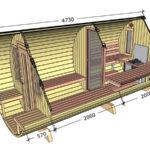 Ein Bild vo dem Querschnitt von unserem Saunafass XXL