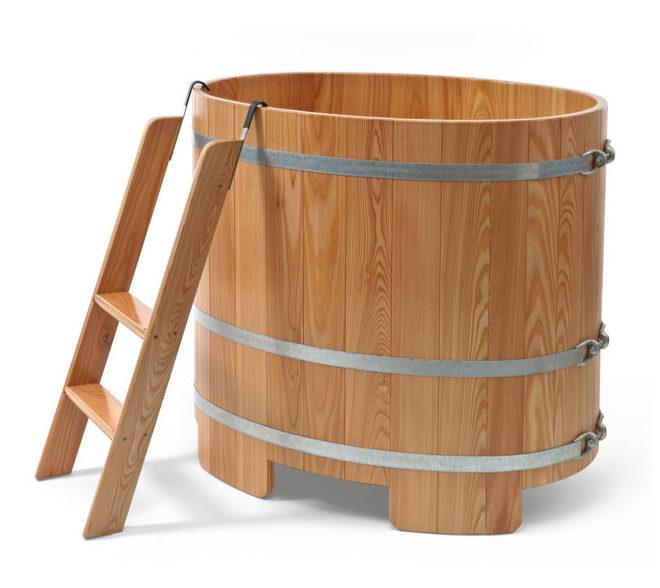 Tauchbottich-Sauna Lärche für Innenbereich