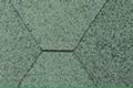Beispiel der Dachschindel in der Farbe Grün.