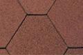 Beispiel für Dachschindel in der Farbe Rot